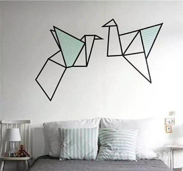 几卷胶带,家里的墙可以另类美图片