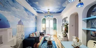 81平地中海風格裝修案例 藍色海洋的溫馨之家