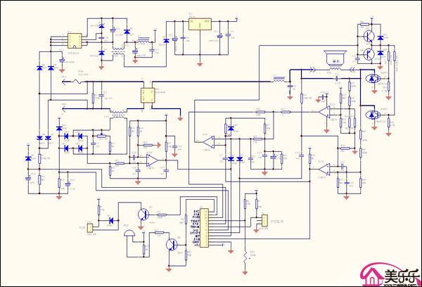 它的工作原理是:电风扇中的通电线圈在磁场当中受到力的作用而转动