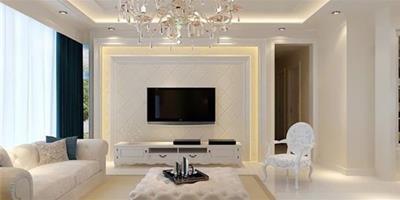 打造客廳的亮麗風景線 現代簡約電視背景牆