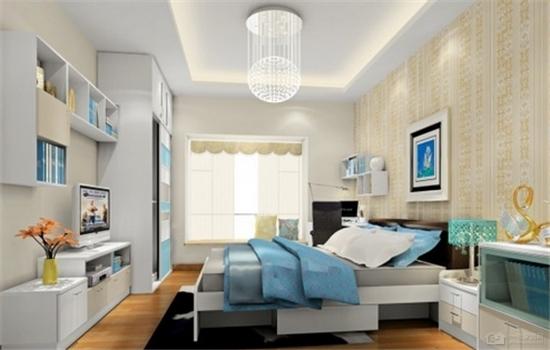 正方形小臥室設計效果圖 方正的空間睡覺更舒服