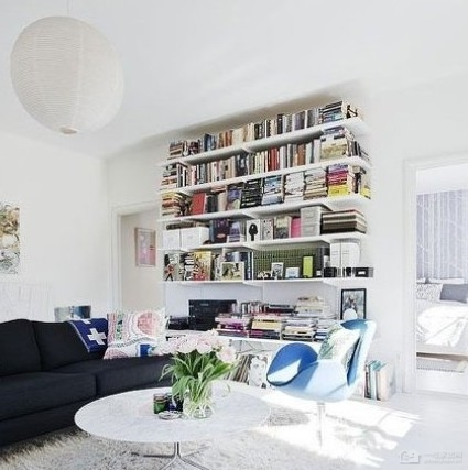 家庭书柜效果图 让你爱上书房