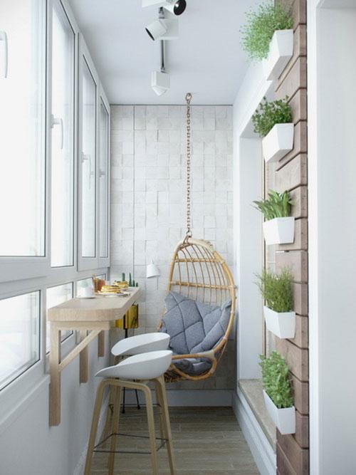 家里最重要的阳台,主要用於健身和休闲,因而可以健身房或茶歇室的风格