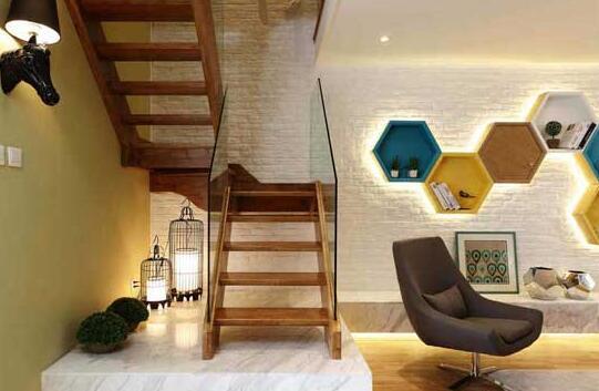 客厅带楼梯效果图 创新理念客厅带楼梯设计图片