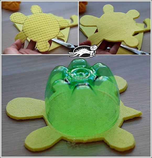 家居diy:雪碧瓶手工制作小乌龟 雪碧瓶子做乌龟