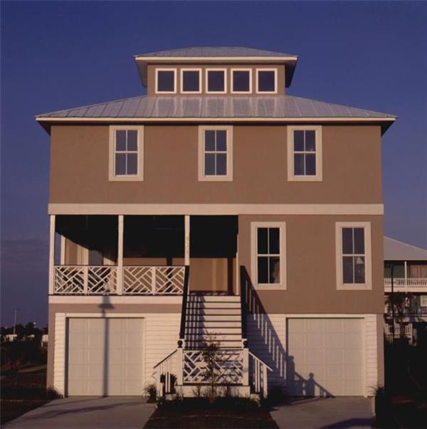 带架空层农村别墅装修 带架空层自建房屋设计图纸图片
