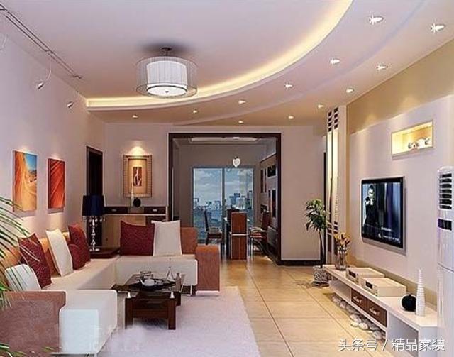 客厅圆弧吊顶 客厅弧形吊顶 客厅星型吊顶 客厅弧形吊顶 客餐厅弧形