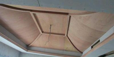 弧形吊頂這樣安裝50年不開裂,木工師傅的活太好了,贊一個!