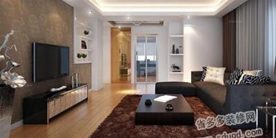 現代簡約電視背景牆效果圖 房子裝修設計案例