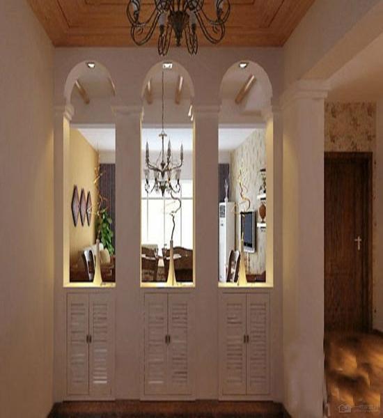 家里大量运用铁艺元素,入门的玄关鞋柜也不例外,於是,一入大门就能