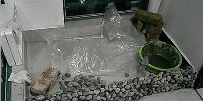 自己在陽臺砌了個魚池,成本才50塊,鄰居都說好看