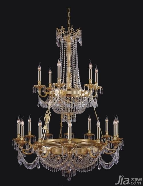 最新款欧式水晶灯模型展示