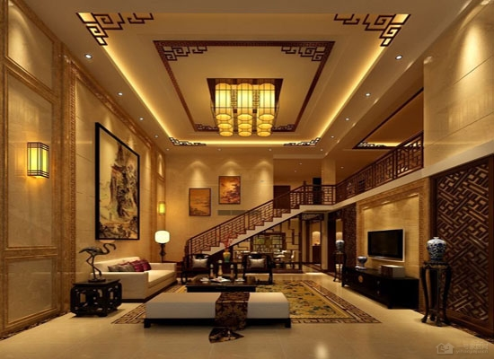 把握挑高客厅装修要点 中式挑高客厅装修