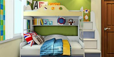 簡約兒童房設計,一個簡易的臥室