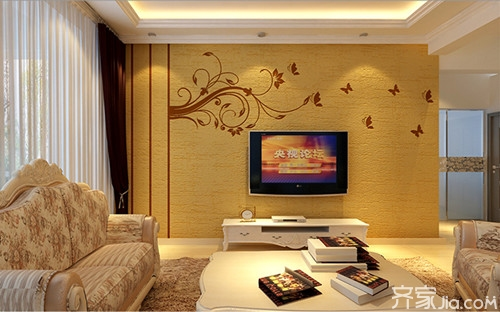 打造绿色环保的矽藻泥电视背景墙