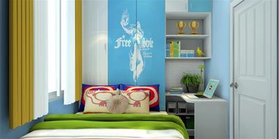 男孩臥室裝修的圖片介紹
